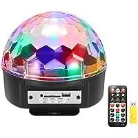 Maxmer Luz Discoteca Luz Colores Lámpara de Escenario 9 Colores MP3 Bluetooth Músical Luz Escenario, Adecuado para Disco, KTV, Bar, Boda, Las Fiestas, etc