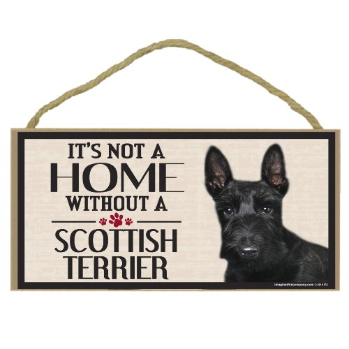 Imagine This! Holzschild für Scottish Terrier Hunderassen -