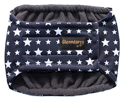 Glenndarcy Männliche Hundewinde für Harninkontinenz, Urinmarkierung im Haus, Größe mittel, blaue Sterne