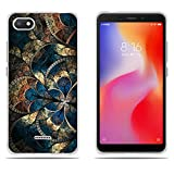 DIKAS Xiaomi Redmi 6A Hülle, Slim Fit Shockproof Flexible 3D Contemporary Chic Design Ultra Thin Lightest Einfach Grip Durable Flex für Xiaomi Redmi 6A (5.45