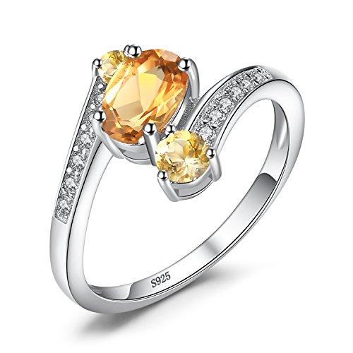 JewelryPalace 0.9ct Magnifique Bague Femme Canal en Argent Sterling 925
