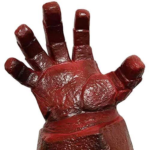 Story of life Horror Halloween Hölle Baron Maske Zerstört Handschuhe Terrorist Latex Kopfbedeckung Red Devil Hellboy Karnevals-Party,Gloves