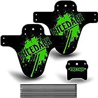 Defensa de bicicleta de NICEDACK, 2 guardabarros traseros y 1 delantero, para bicicleta de MTB o de BMX, verde