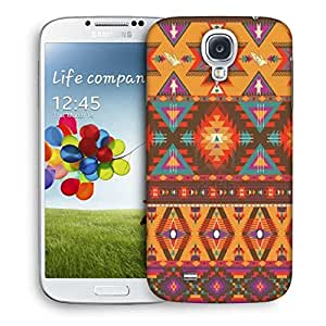 Snoogg Aztec Pattern Cream Stuff Designer Protective Back Case Cover For Samsung Galaxy S4