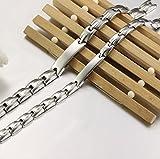 Jstyle Armband Edelstahl Partner Freundschaft Armketten allergiefrei Armbänder Silberweiß für Armreif 20,5cm verliebte Paare Freundschaft Damen Männer - 2