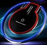 #8: SHOPEE BRANDED Qi Standard Ultra-Slim UFO Shape Fantasy Crystal Clear Wireless Charger Charging stand Pad with LED lighting for Samsung Galaxy S6 S6 Edge S7 S7 edge Note 5 Note 7 Universal for All Qi-Enabled Devices