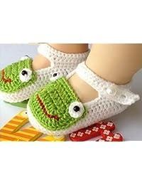 tfxwerws bebé recién nacido calcetines de punto Crochet sandalias zapatos para (blanco) ...