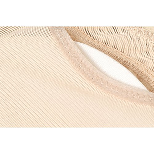 Zhhlaixing Net Yarn Breathable Butt Lifter Padded Underwear Fake Ass Buttocks Shaper Control Comfort Underpants Bella forma del corpo per le donne Beige