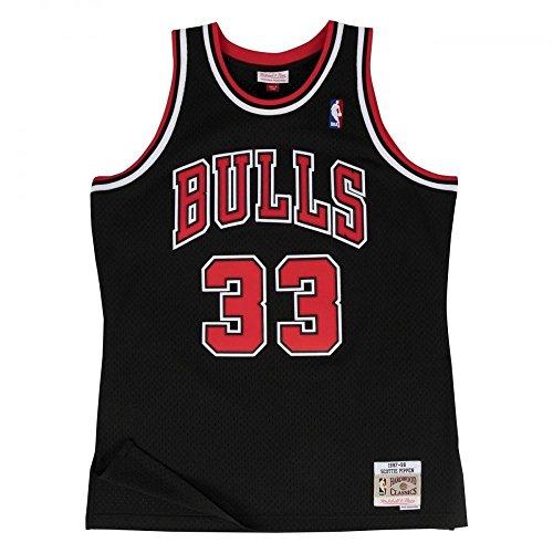 Mitchell & Ness Scottie Pippen #33 Chicago Bulls 1997-98 Swingman NBA Trikot SCHWARZ, XL