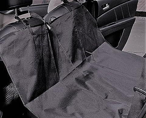 Housses de siège pour animal domestique, protection de siège arrière de voiture pour voitures. étanche Hamac de sécurité Siège arrière protecteur et bretelles réglables (Noir)