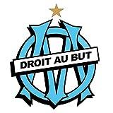 Logo OM, Autocollant Olympique de Marseille Sticker Mural, 100x100cm...