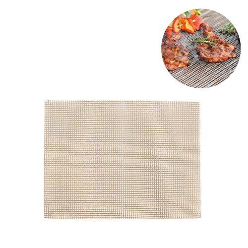 Leegoal Grill Matte, BBQ Grill Mesh Matte für gegrilltes Gemüse, Fisch, Fajitas, Shrimp, Nonstick BBQ Backmatte funktioniert auf Gas, Kohle, Elektrogrill