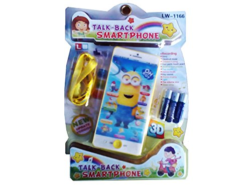 Vaibhav Talking Musical Smart Minion Cartoon Mobile 3D Mobile Baby Phone Ultra Clear Recording Learning toy for kids