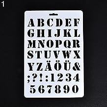 Letra alfabeto número hueco plantillas pintura scrapbooking papel tarjetas Craft Amesii #1