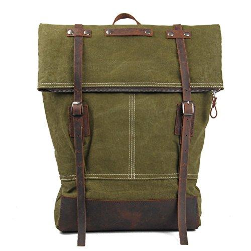 Everdoss Hommes sac à dos en toile sac de l'école cartable de style rétro sac de l'école sac de loisirs