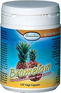 Bromelain 500 - Vegi-Kapseln 100 Stück - Das Spitzenenzym der Ananas ist besonders zu empfehlen bei Sportverletzungen
