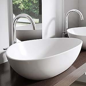 BTH: 67x44x15 cm Design Aufsatzwaschbecken Brüssel895, aus
