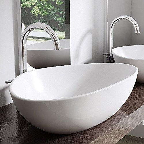 BTH: 67x44x15 cm Design Aufsatzwaschbecken Brüssel895, aus Keramik, Waschbecken, Waschtisch, Waschplatz, Waschschale