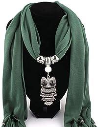 741adaebbc40 OverDose Collier Femme Echarpes Owl Pendentif Bijoux Tassels Echarpe Châle  Wrap
