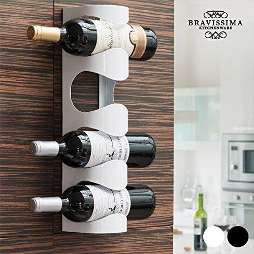 Bravissima Kitchen Weinflaschenhalter Metall - Weiß