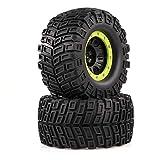 Leslaur 2 stücke AUSTAR 165mm 3,8 Zoll Felge Gummireifen Reifen Rad für 1/8 HSP HPI Traxxas RC Off-Road Auto Crawler
