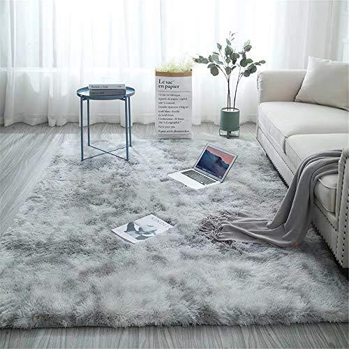 Glitzfas tappeto shaggy, tappeto a pelo lungo morbido per soggiorno, camera da letto, cameretta dei bambini, sala da pranzo (grigio acqua,160 * 230cm)