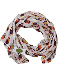 New with Tags Russian Dolls Print Design Women's Scarves Large Scarfs Shaw (Cream)