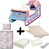 Bebegavroche Disney Frozen Complete Sleigh Bed = + MATTRESS & Bedding Set Duvet + Pillow +