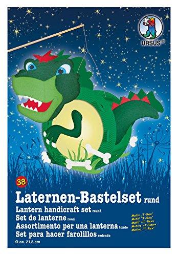 Ursus 18700038 - linternas Bastelset T-Rex, Alrededor de 21,8 x 31 x 10,3 cm, Colorido