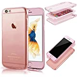 MOMDAD Etui IPhone 6 6S Coque IPhone 6 6S Transparente TPU Etui Flexible Ultra Mince Coque Poids Léger Soft Silicone Case Cas Couverture Anti Rayure Coquille Anti Choc Hull TPU Coque pour IPhone 6 6S 4.7 Pouces TPU Silicone Coque Housse IPhone 6 6S Souple Coque-rose or