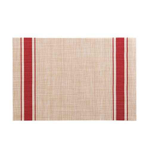 LeisialTM Tampon étanche Tapis de Table Sets de Table Plaque Anti-Chaud Tapis Résistant à la Chaleur pour Dîner de Fête(Rouge)