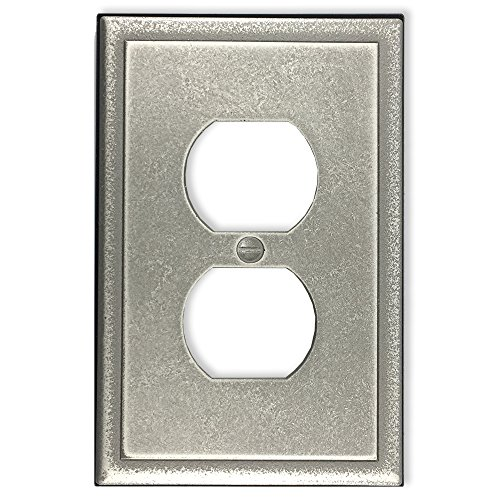 Satin Nickel Handheld (questech Ambient Satin Switch Plate/-Auslass Cover Single Duplex - 3 Pack gebürsteter nickel)