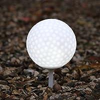En blanco brillante LED resistente a la intemperie Jardín pelota de golf por PK Green