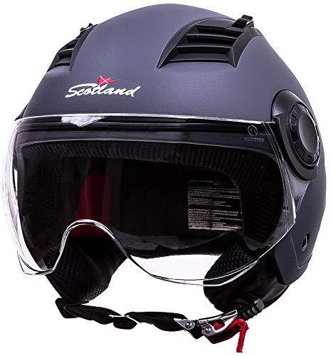 Scotland 120021 Casco Moto, Grigio, Taglia M
