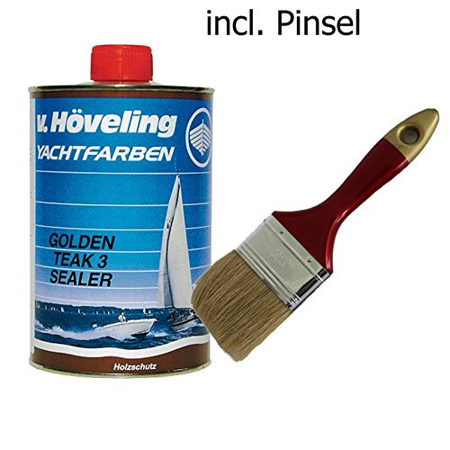 Preisvergleich Produktbild Höveling Golden Teak 3 Sealer D 07 1 Liter incl. Lackierpinsel