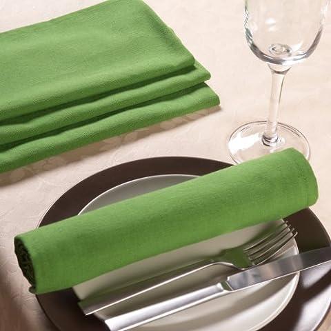 Sancarlos - Servilleta lisa verde  - algodón 100% - 50x50 cm - verde