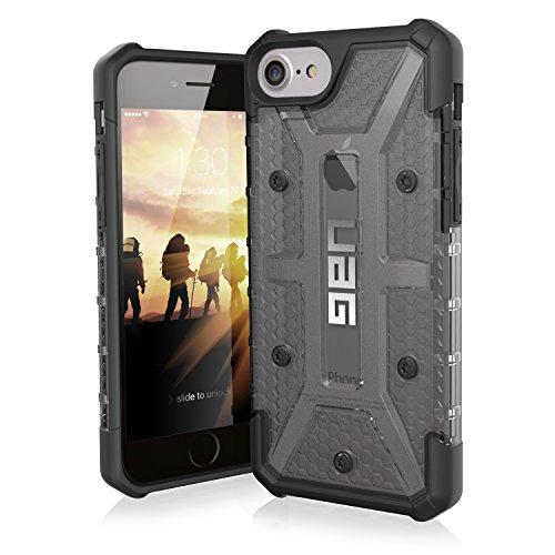 Urban Armor Gear Plasma Schutzhülle Nach US-Militärstandard für Apple iPhone 8/7/6S/6 - Transparent (Dunkel) [Verstärkte Ecken | Sturzfest | Antistatisch | Vergrößerte Tasten] - IPH8/7-L-AS (Iphone 5 Urban Fall)