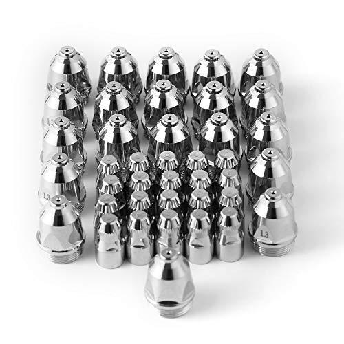 Plasmaschneider Zubehör Packung von 40 Stück P80 Plasmaschneider Verbrauchsmaterialien Schneiden Elektrode/Tipps geeignet für 80A Plasmaschneiden Pistole