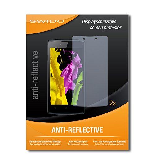 SWIDO Schutzfolie für Oppo Neo 5 [2 Stück] Anti-Reflex MATT Entspiegelnd, Hoher Härtegrad, Schutz vor Kratzer/Bildschirmschutz, Bildschirmschutzfolie, Panzerglas-Folie