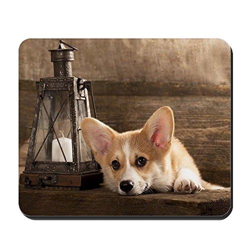 CafePress–Puppy Welsh Corgi Cardigan Mousepad–Rutschfester Gummi-Mauspad, Gaming Maus Pad