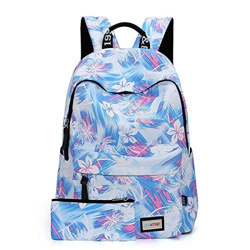 Joymoze zaino casual per ragazze alla moda, zaino scuola, borsa donna molto carina blu 850