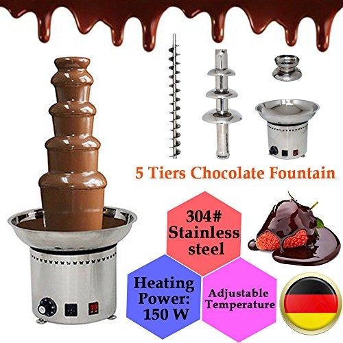 CF ProEdition Professionelle Schokoladen-Brunnen, aus Edelstahl und 304# Edelstahl, 680 mm Höhe