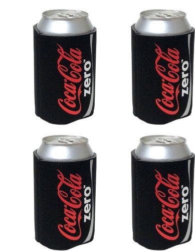 kolder-coke-zero-can-koosie-4-pack-black