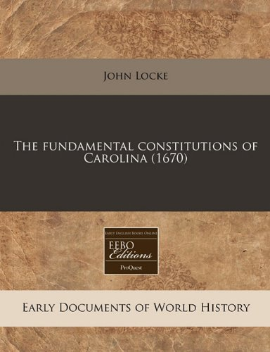 The fundamental constitutions of Carolina (1670)