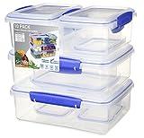 Sistema Recipientes de almacenamiento de alimentos Klip it - 10 unidades