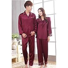 MOXIN Para Hombre Del Pijama De Satén Conjunto , xxxl , 5219 women silver grey