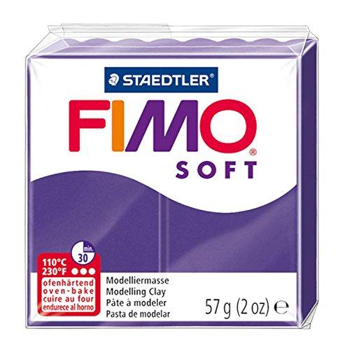Staedtler 8020-63 - Fimo Soft Normalblock, Modelliermasse, 57 g, pflaume - 63 Pflaume