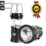 #6: LED Solar Emergency Light Lantern + USB Mobile Charging point, 3 Power Source Solar, Battery, Lithium Battery, Travel Camping Lantern - (Blue, Black, Golden, Brown) - Color will be as per stock