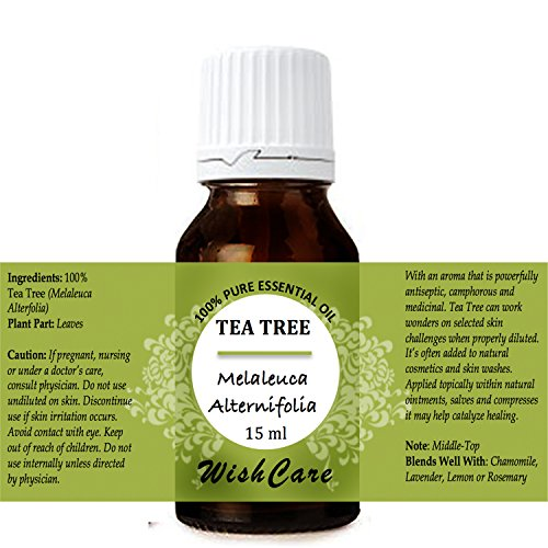 WishCare Tea Tree Essential Oil 15 ML - 100% Pure, Undiluted & Natural Therapeutic Grade - For Skin, Hair and Acne Care