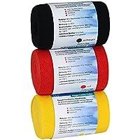 Höga Lastic-Color 3er Set, schwarz-rot-gelb, 8cm x 5m, Cello, 3 Stück preisvergleich bei billige-tabletten.eu